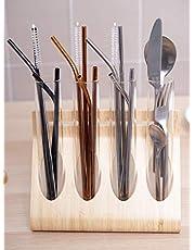 HOUZE Stainless Steel Straw Set of 4
