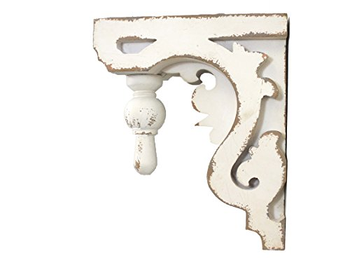 "Silvercloud Trading Co. Architectural Corbel, Wall Shelf, Bookend - Large 11"" - Sold Individually - Ready to Hang - Painted & Distressed"
