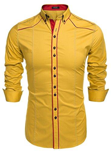 (COOFANDY Men's Button Down Dress Shirts Casual Slim Fit)