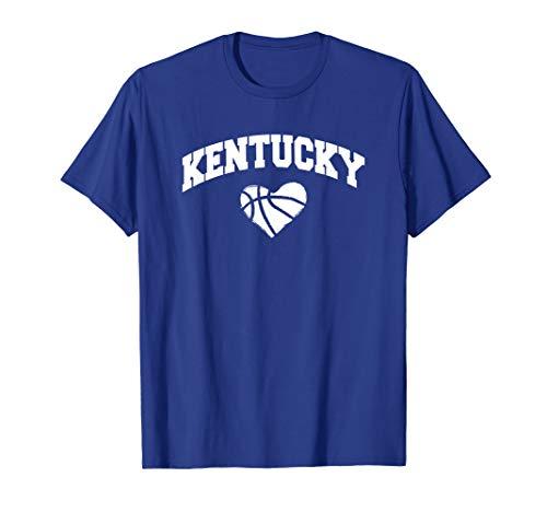 Kentucky - Blue Basketball Heart Design T Shirt
