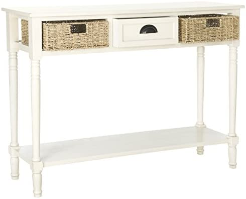 Fabulous Safavieh American Homes Collection Winifred White Wicker Console Table With Storage Ibusinesslaw Wood Chair Design Ideas Ibusinesslaworg