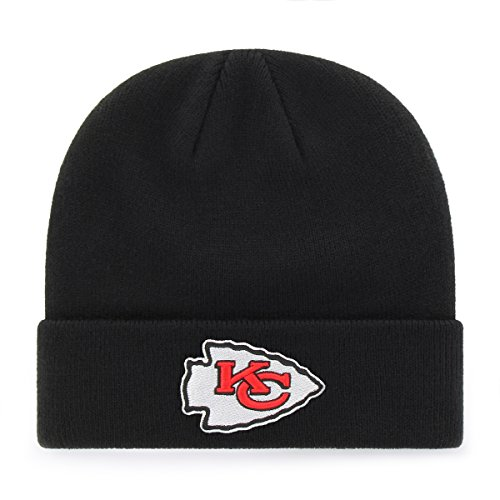 Kansas City Chiefs Cap (OTS NFL Kansas City Chiefs Raised Cuff Knit Cap, Black, One Size)