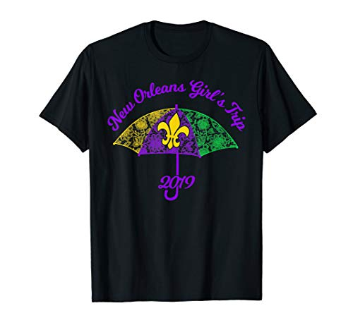 New Orleans Girls Trip 2019 Mardi Gras Fleur De Lis Umbrella
