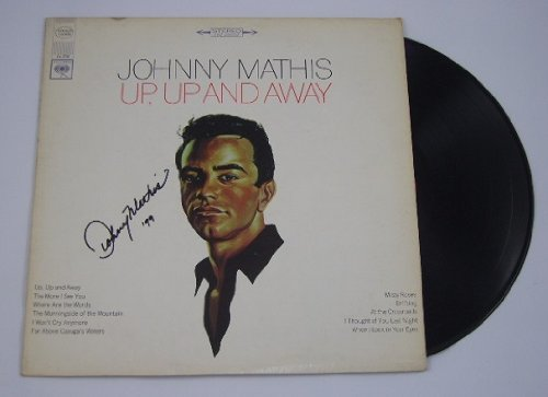 Johnny Mathis Up, Up and Away Authentic Signed Autographed Lp Record Album Vinyl Loa