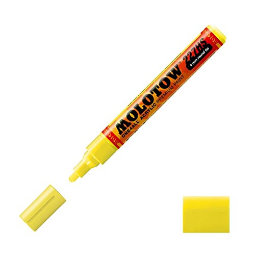 One4All Acrylic Paint Markers 4 mm neon yellow fluorescent 2