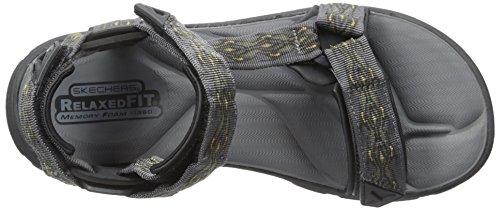 USA Flat Bravelen Sandal Drito Charcoal Men's Skechers AnOdqxRR