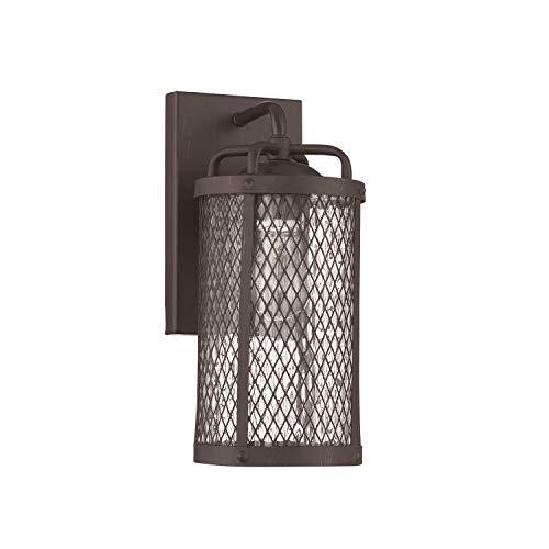 Craftmade Z2204-MBKG Blacksmith Outdoor Wall Sconce, 1-Light 60 Watts, Matte Black Gilded