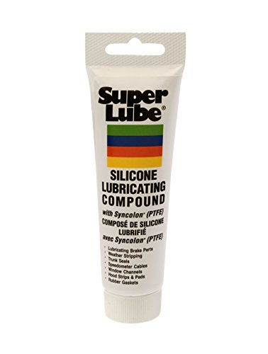 Super Lube 92003 Silicone Lubricating Grease with PTFE, 3 oz Tube, Translucent White