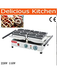 FY 2201 A 180 Degree Turntable 9 6x9 6cm 220v Electric Liege Swing Belgian Waffle Maker Machine Baker
