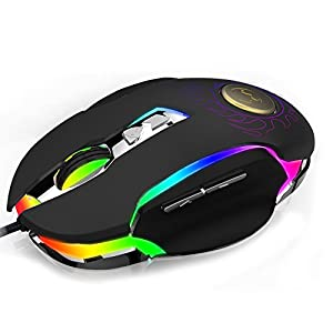 Gaming Mouse,Powpro Gfun PP-BM600 Gaming Mouse 250-4000 DPI Ergonomic Comfortable Grip High Precision Computer Mouse