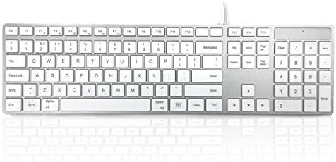 Accuratus 301 Mac - USB de tamaño Completo Teclado Apple Mac Multimedia con Teclas cuadradas