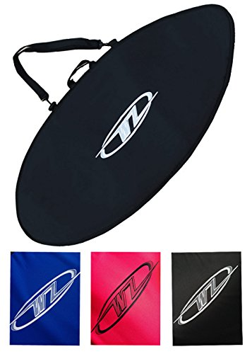 Wave Zone Skimboards Bag - Travel or Day Use - Padded - Black Blue or Red - 4 Sizes