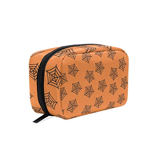 FANTAZIO cosmetic bags for women Spider Net Halloween make up pouches -