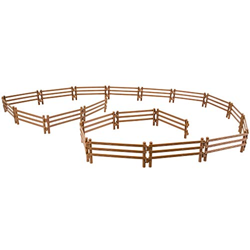 - TOYMANY 20PCS Horse Corral Fencing Accessories Playset, Plastic Fence Toys for Farm Barn Paddock Horse Stable or Farm Animals Horses Figurines, Eductaional Gift Cake Toppers for Kids Toddlers