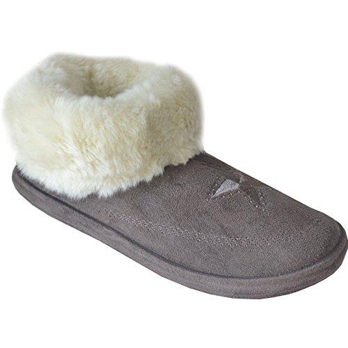 Xelay - botas pantuflas mujer Camel