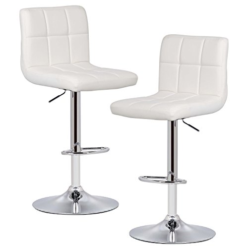 POLY & BARK  Griffin Adjustable Barstool, Set of 2, ()