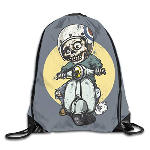 Halloween Riding Zombie Men & Women Sport Gym Sack Dancing Bag Drawstring Backpack For Beach Hiking Travel -