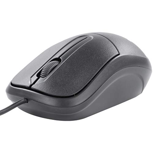 Renewed  Zebronics Zeb Comfort+ Wired Mouse  Black