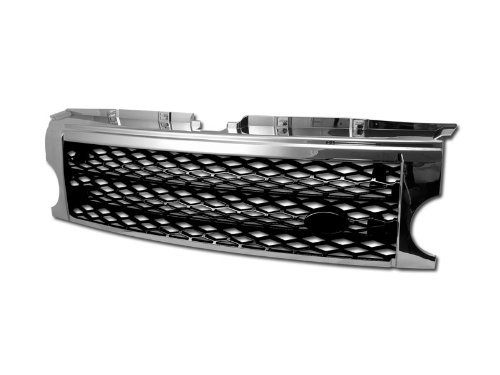 R&L Racing Chrome/Black Mesh Front Bumper Grill Grille 2005-2009 Land Rover Lr3 Discovery - 2007 Bumper Racing