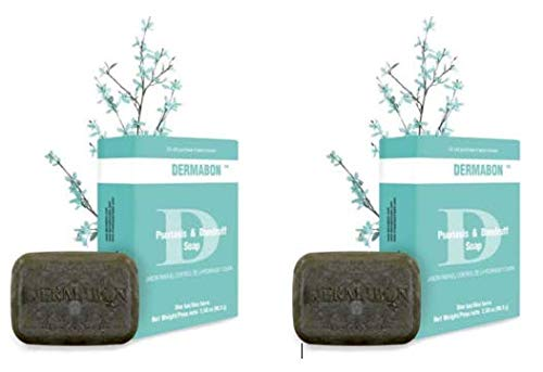 DERMABON Artisan Soap-Like Psoriasis Treatment. All Natural Ingredients, No Cortisone. FDA Approved. (2 Bar Pack)