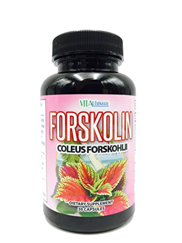Vita Ultimate Forskolin- Coleus Forskohlii-All Natural Fat Burner and Appetite Suppressant-100% Natural, Pure, Potent Ingredients-30 Capsules