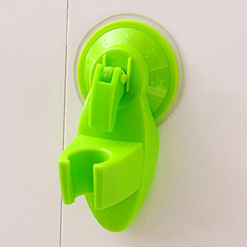 Iuhan Strong Sucker-in Rain Shower Support Base Do Showerheads Shower Head Holder (Green)