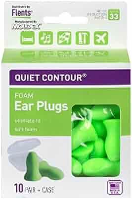 Flents Quiet Contour Ear Plugs (10 Pair) NRR 33