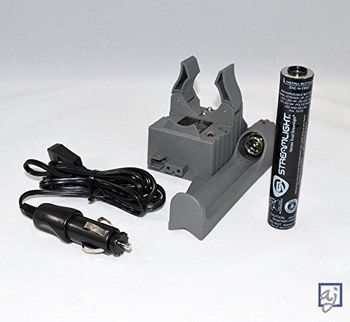 Bundle: Streamlight Stinger PiggyBack Smart Charger w/Battery (75277) + DC (Car) Cord