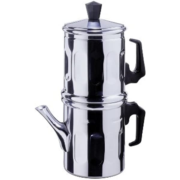 Cafetera tradicional napolitana de aluminio TZ.3-4 cm: Amazon.es ...