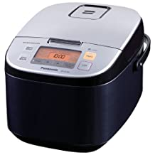 Panasonic Smart Rice Cooker - 10-Cup - Black/Silver
