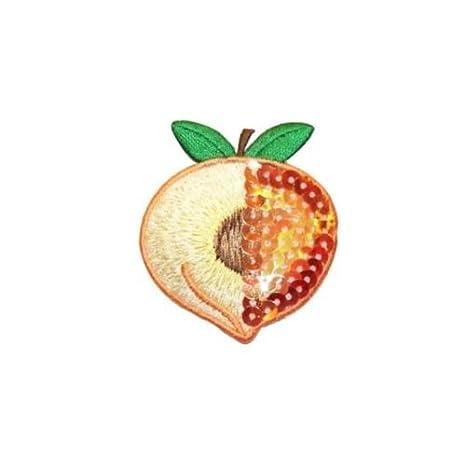 ID 1222 A Peach con lentejuelas parches verano frutas ...