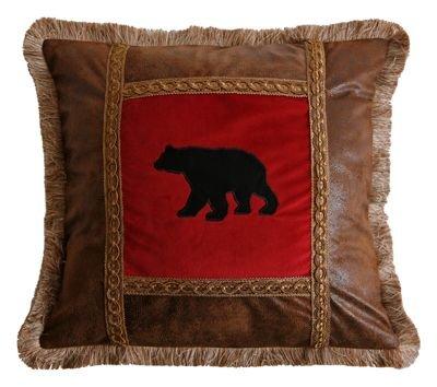 Carstens Applique Bear Pillow ()