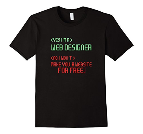 Mens Web Designer Computer IT Website Novelty Graphic T-Shirt XL Black