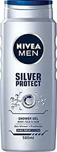 Nivea Men Silver Protect, Anti-bacterial, Protective Shower Gel, 500ml