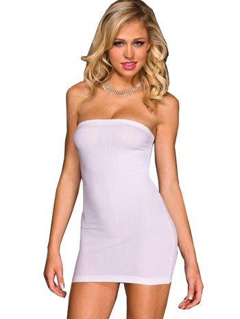 White Strapless Mini Dresses