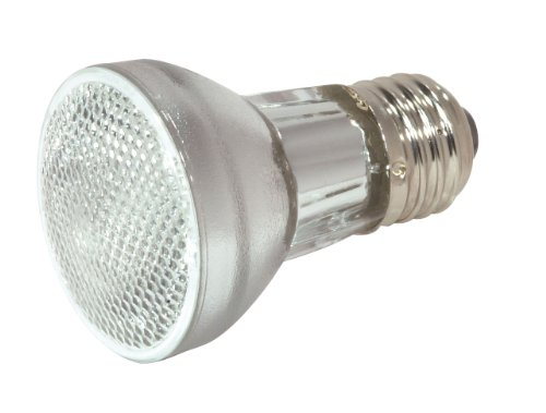 Satco S2204 75 Watt 800 Lumens PAR16 Halogen Narrow Spot 10 Degrees 120 Volt Clear Light Bulb, Dimmable