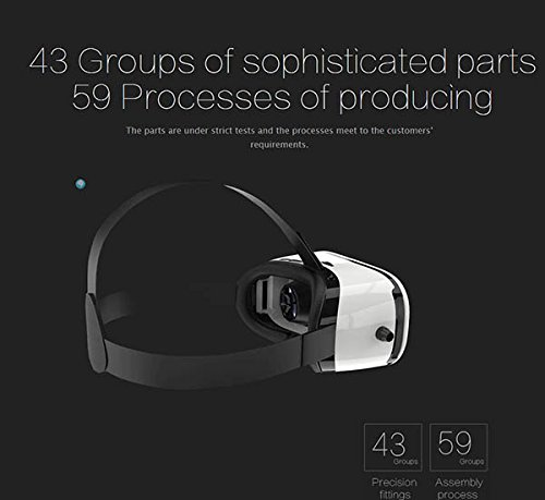 Pasonomi VR Glasses - 3D Virtual Reality Headset for iPhone 7/7 Plus/6s/6 plus/6/5, Samsung Galaxy, Huawei, Google, Moto & all Android Smartphone by PASONOMI (Image #7)
