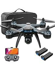 Draagbare GPS FPV-drone, GPS-drone met 6K-camera voor volwassenen, 5G WiFi RC-drone quadcopter, 2000m afstandsbedieningsafstand, 40 minuten vliegtijd, 120 ° groothoek