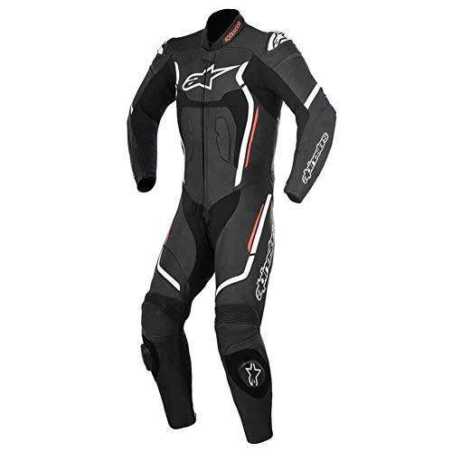 Alpinestars Racing Motegi v2 Leather Motorcycle Suits - Black/White - 56