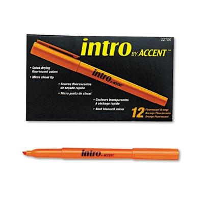 Paper Mate 22706 Intro Highlighter, Chisel Tip, Fluorescent Orange, 12-Pack