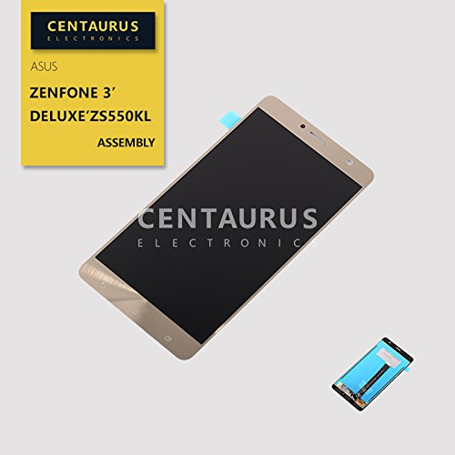 for Asus ZenFone 3 Deluxe ZS550KL Z01FD 5.5 inch Replacement LCD Display Touch Screen Digitizer Assembly (Gold) ()