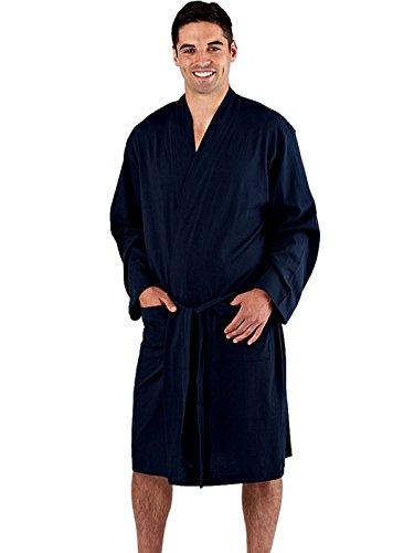 Best Deals Direct Mens Check Stripe Kimono Wrap Dressing Gown