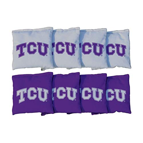Victory Tailgate NCAA Collegiate Regulation Cornhole Game Bag Set (8 Bags Included, Corn-Filled) - Texas Christian University Horned Frogs