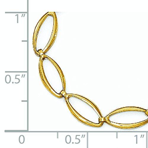 Poli et Bracelet en or 14ct-18cm