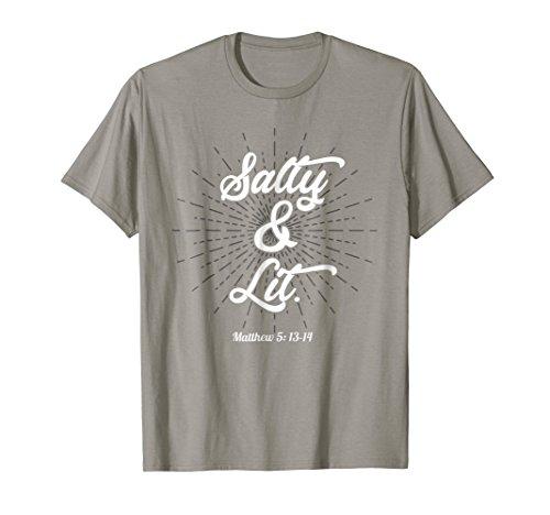 Funny Christian Humor Salty & Lit T Shirt Gift