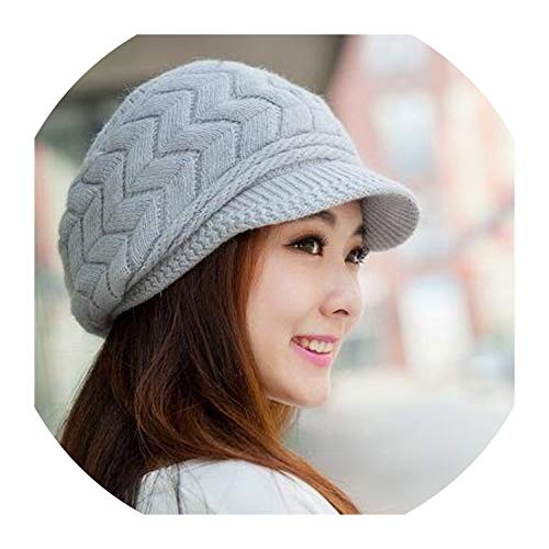 Hat Women Knitted Winter Skullies CAPS SnapBack Warm Wool