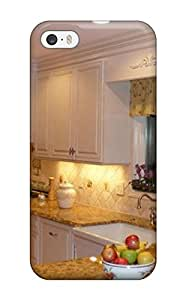 Premium White Country-style Kitchen With Warm Granite Counterhigh-rankings Back Cover Snap On Case For Iphone 5/5s