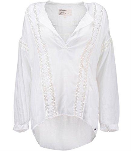 Garcia glatt modal bluse feder weiß