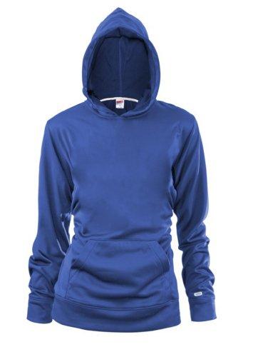 Soffe Big Girls' Poly Fleece Pullover Hood, Royal, Large