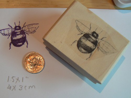 Bumble Bee Rubber Stamp WM 1.25x1